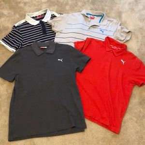Puma (4) collard short sleeve/golf shirts